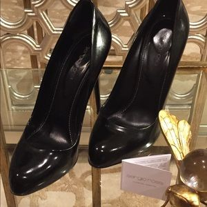 Sergio Rossi Black Leather Pumps